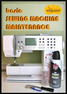 sewing machine maintenance - cleaning a top load