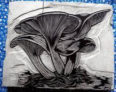 Mushroom Woodcut-- zencrafting: June 2008