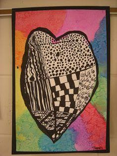 WHAT'S HAPPENING IN THE ART ROOM??: 3rd Grade Zentangle Hearts