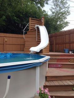Swimming Pool Slides, Small Swimming Pools, Above Ground Swimming Pools, Swimming Pools Backyard, In Ground Pools, Piscina Pallet, Piscina Diy, Oberirdische Pools, Cool Pools