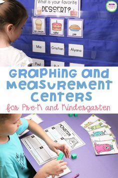 Graphing and measurement activities help your Kindergarten or Pre-k students analyze the world around them.If you're looking for measurement and graphing activities and centers, you've found them! These fun learning activities are a great addition to your math activities for your early learners! #kindergarten #prek #kindergartenmath #teachingkindergarten