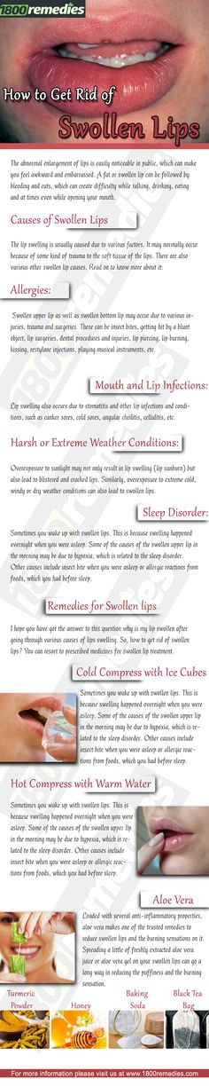 Here are some excellent home remedies that will help you to treat the problem of swollen lips.
