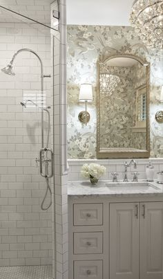 44 Girly And Feminine Bathroom Design Ideas That Are Beautiful Feminine Bathroom, Small Bathroom, French Bathroom, Bathroom Sconces, Bathroom Closet, Wall Sconces, Dream Bathrooms, Beautiful Bathrooms, Master Bathrooms