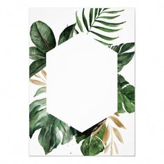 Shop Tropical Philodendron Palm Leaves Modern Wedding Invitation created by CheriDesigns. Personalize it with photos & text or purchase as is! Cheap Wedding Invitations, Floral Wedding Invitations, Wedding Invitation Templates, Wedding Stationery, Palm Wedding, Botanical Wedding, Watercolor Invitations, Floral Invitation, Invitation Cards