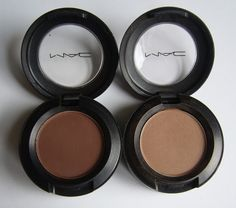 MAC brown matte eyeshadow in Corduroy (left) is my go to powder eyebrow shade when I forget to pack anything brows in my purse or travel bag Makeup Box, Mac Makeup, Mac Eyeshadow, Eyeliner, Eyeshadows, Eyebrow Shading, Filling In Eyebrows, Brow Kit, Makeup Essentials