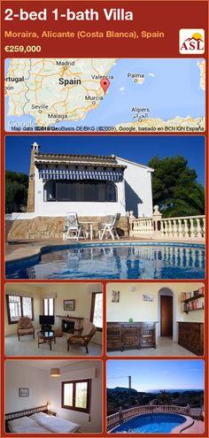 2-bed 1-bath Villa in Moraira, Alicante (Costa Blanca), Spain ►€259,000 #PropertyForSaleInSpain