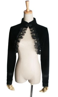 A perfect topper to wear around your shoulders when you have a corset or strapless top. This will add elegance and grace to your presence! Black Bolero Jacket, Lace Shrug, Gothic Outfits, Cropped Cardigan, Black Laces, Sleeve Styles, Ebay, Long Sleeve, Steampunk