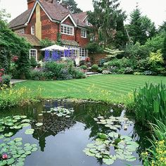 Garten Terrasse Wohnideen Möbel Dekoration Decoration Living Idea Interiors home garden - Teich und etablierten Grenzen