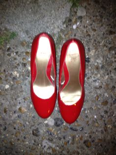 Pair of red shoes. Probably Dorothy's.