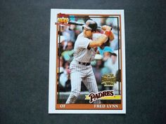 2001 Topps Archives #408 Fred Lynn Padres NM/MT