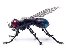 Edouard Martinet's Masterfully Sculpted Animals and Insects Made from Bicycle, Car, and Motorcycle Parts