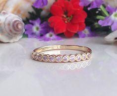 20% off- SALE!! October Birthstone Jewelry - Rose Quartz Ring - Tiny Ring - Stack Ring - Many Gemstones Ring - Dainty Ring - Bezel Set by HolyLandJewelry on Etsy https://www.etsy.com/listing/210239038/20-off-sale-october-birthstone-jewelry