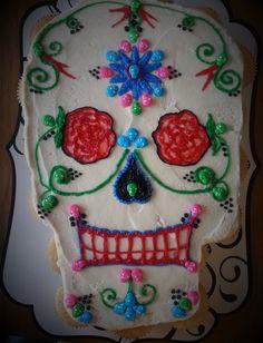 Dia de Los Muertos Sugar Skull Cupcake Pull by SweetAnnaCakes