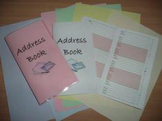 Travellers Notebook Style  Handmade Address Book by DesignedByCaz