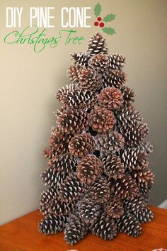 40 Creative Pinecone Crafts for Your Holiday Decorations --> Pinecone Christmas Tree Pine Cone Tree, Pine Cone Christmas Tree, Noel Christmas, Rustic Christmas, Pine Cones, Primitive Christmas, Pine Cone Wreath, Cone Trees, Scandinavian Christmas