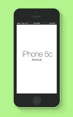 Flat iPhone 5c Mockup Free PSD File #psdfiles #freepsdfiles #downloadpsdfiles #photoshoppsdfiles #uidesign