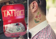 Awesome Temporary Wedding Tattoos Seen at Real Weddings - mywedding Card Box Wedding, Wedding Day, Boho Wedding, Wedding Blog, Wedding Decor, Wedding Reception, Wedding Games, Wedding Favors, Ideas 2017