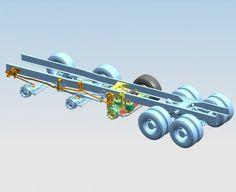 De GINAF SensAxle+ is aangesloten middels stokkenbesturing aan het stuursysteem van de twee voorassen.