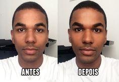 Maravilha: Maquiagem masculina FÁCIL em pele negra