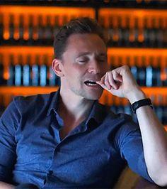 Suggestive Tom Hiddleston... https://www.youtube.com/watch?v=xbqEnrMF3S0
