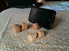 Use corks as little stands for phones and other gadgets. Clever! [Thx to Unconsumption reader Tyler M.]