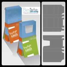 Troquel caja exhibidora Bar Chart, Kiss You, Crates, Bar Graphs
