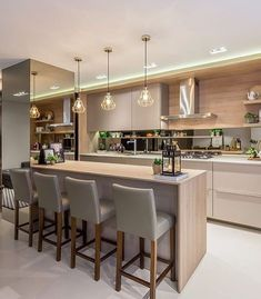 When it comes to modern kitchen design, one of the main things you need to think about is the things that will be in your kitchen. Obviously, a big part of a kitchen is its furniture. A kitchen is one… Continue Reading → Kitchen Room Design, Kitchen Sets, Dining Room Design, Home Decor Kitchen, Kitchen Living, Interior Design Kitchen, Kitchen Furniture, Home Kitchens, Kitchen Island