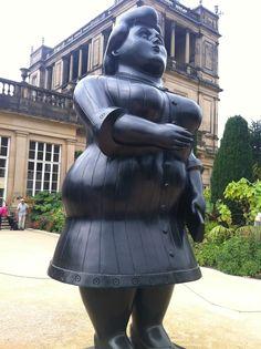 Standing Woman by Fernando Botero. Chatsworth House 2013