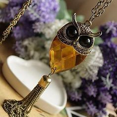 EUR € 4.04 - DIY patern for owl necklace