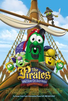 The PIrates do something - like taking the lead in the Veggie's second big screen adventure.