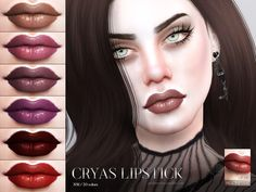Lips in 20 colors.  Found in TSR Category 'Sims 4 Female Lipstick'
