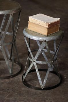 Metal stool/table.