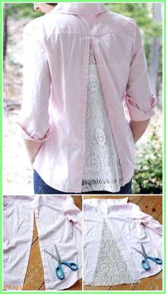 Frauenkleidung – Comment élargir une chemise trop petite.14 Astuces pour faire ses propres retou…
