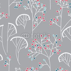 Seamless background pattern with leaves