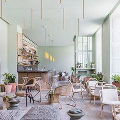 Pistachio coloured goodness at the Eden Locke Hotel in Edinburgh. More hotel design inspo on the blog.