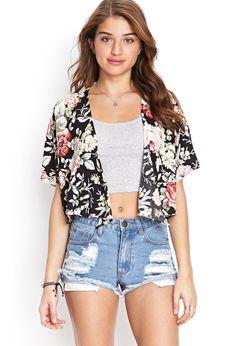 Cropped Floral Print Kimono | FOREVER21 #SummerForever