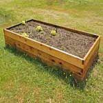 2'x4' Cedar Raised Garden Bed Kit