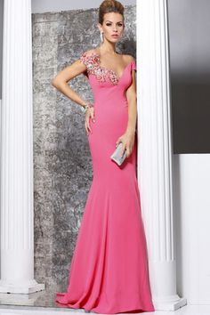 2014 Mermaid V Neck Sexy Prom Dresses V Back Sweep Brush Chiffon for sale, buy affordable prom evening party gowns at best online dress store. For any size, we can customize for you.