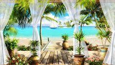 Paradiso sulla spiaggia - FOTOMURALI