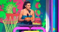 Danica Patrick wins Nickelodean's Kids Choice Award for Favorite Female Athlete, beating Serena and Venus Williams and Gabby Douglas