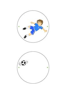 Soccer Thaumatrope craft for kids
