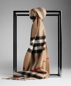 Burberry Camel Giant Cashmere Scarf - $125.00 : burberry scarf, burberry scarves