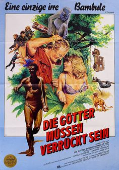 The Gods Must Be Crazy 1980 German A1 Poster