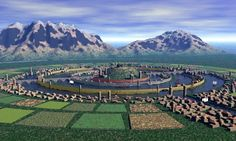 The Lost City of Atlantis -The Legendary Island City first mentioned by Plato