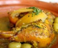 tajine de poulet aux olives vertes et citron confit