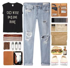 """This Is Not A Dress"" by saanyaii ❤ liked on Polyvore featuring rag & bone/JEAN, Marie Turnor, Converse, Jayson Home, Williams-Sonoma, Cole Haan, Monki, Mason Pearson and Tim Holtz"
