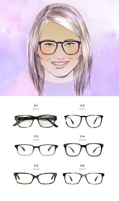 For round face shapes. 1. Classic Specs, $89 / 2. Warby Parker, $95 / 3. Warby Parker, $95