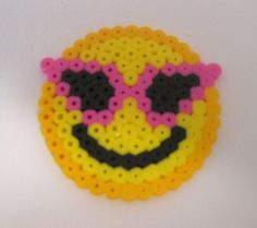 Smiley Face with Sunglasses perler beads by NileTreasures