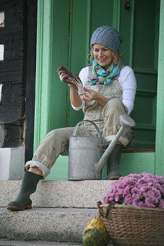 Garden Girl Bib Trousers