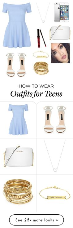 """""""Senza titolo #672"""" by charlottehora on Polyvore featuring New Look, Michael Kors, Tiffany & Co. and ABS by Allen Schwartz"""